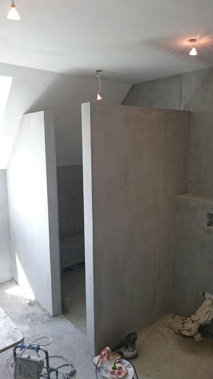 Betonlook badkamer 004 - Stucadoorsbedrijf van Baal